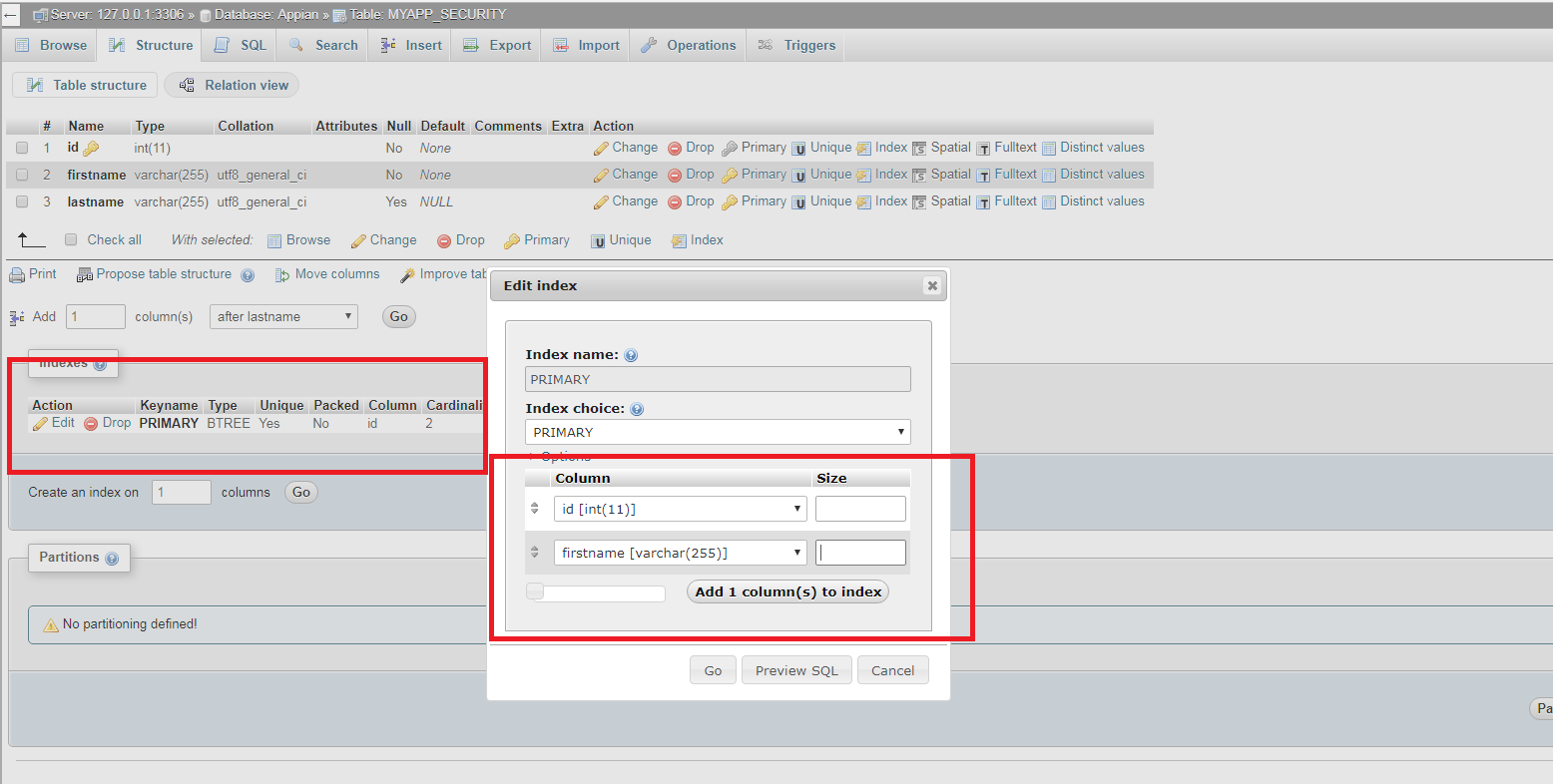 Query around Primary Key in Appian My SQL Database - General