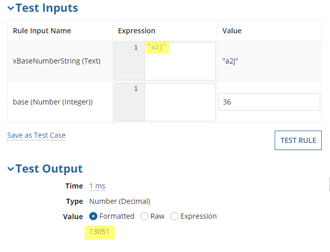 Convert base 10 to base 36 numbers using numbers 0 - 9 and letters A