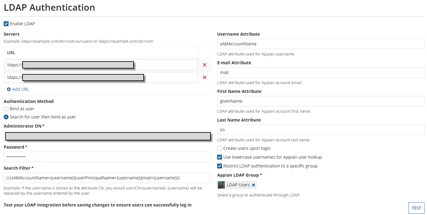 LDAP Authentication: Enable Login with Email Address