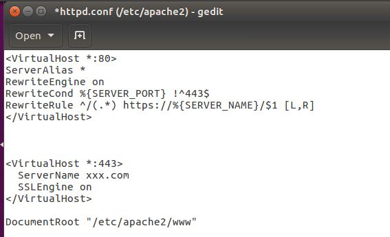 Redirect HTTP to HTTPS by Apache 2 4 - Administration - Discussions
