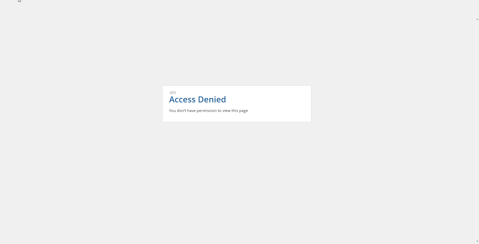 403 Access Denied Message on site - Administration - Discussions
