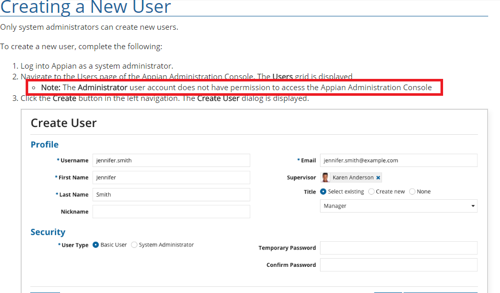 installed Appian But System Admin is not created - Administration